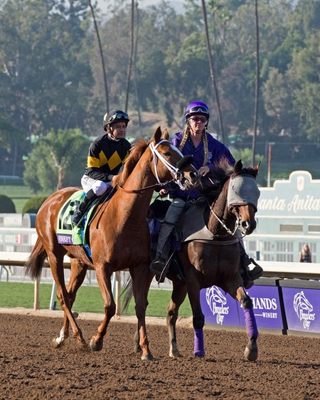 Finest City and Mike Smith win the Filly & Mare Sprint (gr. I) at Santa Anita on Nov. 5, 2016, in Arcadia, California.