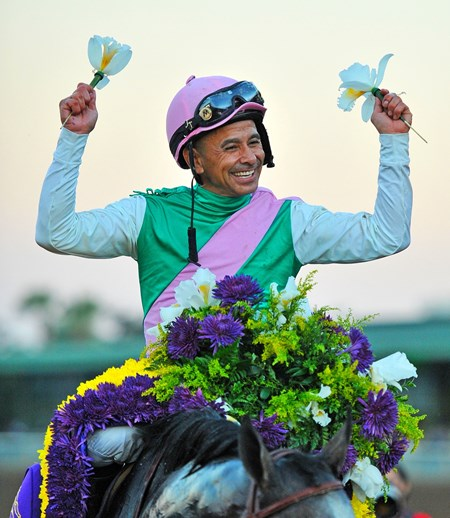 Mike Smith after winning the 2016 Breeders' Cup Classic