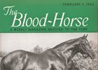 Nasrullah on the cover of The Blood-Horse in 1953, before his U.S. runners hit the track