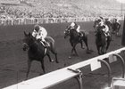 Damascus scores clear victory in 1968 Malibu Stakes Jan. 6 at Santa Anita Park.