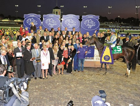 Blame wins the 2010 Breeders' Cup Classic at Churchill Downs