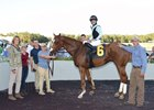 Jonathan Thomas (right) with maiden winner Big Papi Nov. 30 at Tampa Bay Downs