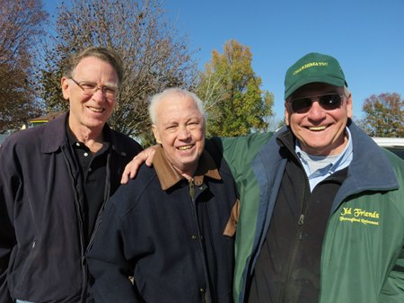 Bill Mooney (center), with Mark Simon (left) and Old Friends founder Michael Blowen