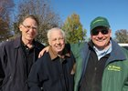 Bill Mooney (center) with Mark Simon (left) and Old Friends founder Michael Blowen