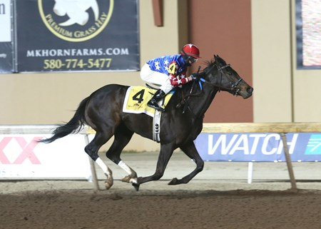 Perfect Wife wins the 2016 Trapeze Stakes at Remington Park