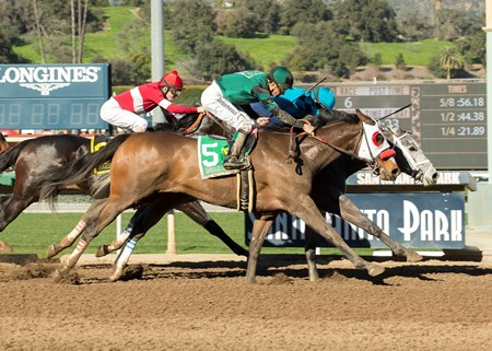 Richard's Boy wins the 2017 Donald Valpredo California Cup Sprint Stakes