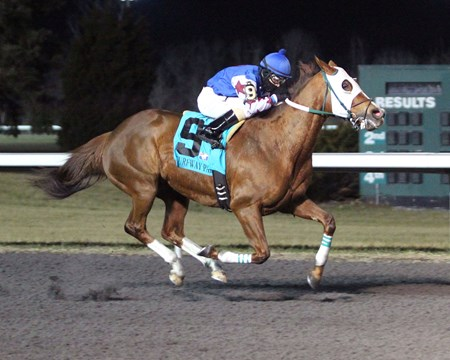 My Four Rewards wins a claiming race at Turfway Park
