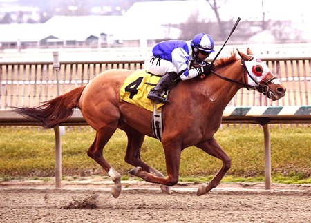 Page McKenney returned from a nine-month gap between races to win the Jan. 21 Native Dancer Stakes