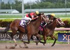 Sonic Mule outfinishes State of Honor to win the Mucho Macho Man