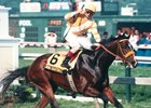 Louis Quatorze winning the 1996 Preakness Stakes