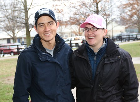Carlos Estrada and Sarah Estrada-Brok at 2017 Fasig-Tipton Winter Mixed Sale