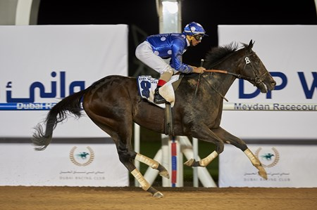 Baratti wins the 2017 Jebel Ali Port Handicap