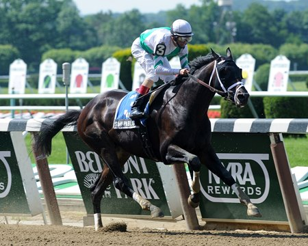 "San Pablo won the Criminal Type Stakes by 3 1/2 lengths.<br><a target=""blank"" href=""http://photos.bloodhorse.com/AtTheRaces-1/at-the-races-2013/27257665_QgCqdh#!i=2575334259&k=xJHvwRR"">Order This Photo</a>"