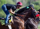 Iliad works under jockey Flavien Prat March 31 at Santa Anita