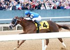 Rockshaw wins the Gazebo Stakes at Oaklawn