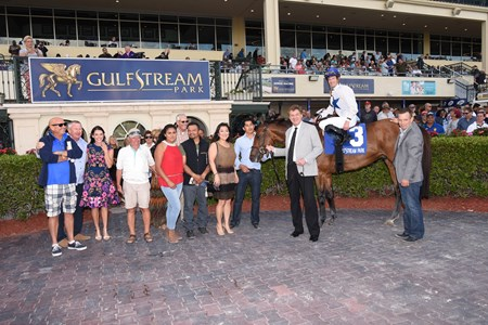 Heart to Heart wins the Canadian Turf Stakes (G3T) at Gulfstream Park on March 4; 2017