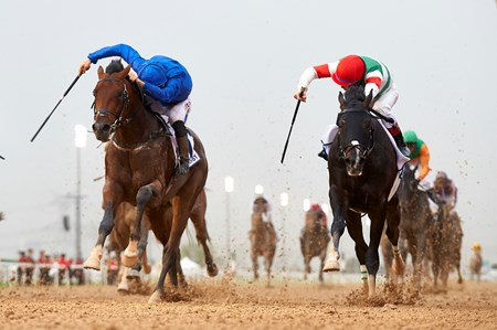 Thunder Snow wins the 2017 UAE Derby
