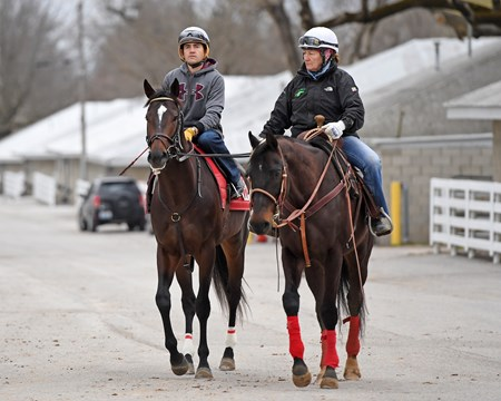 walking to the track