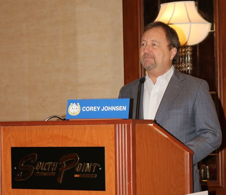 Corey Johnsen March 8 at National HBPA convention in Las Vegas