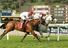 Calculator, inside, wins an optional-claiming allowance at Santa Anita