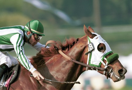Point Given wins the 2001 San Felipe Stakes