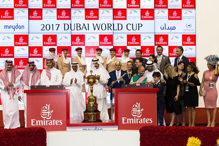 Arrogate wins the 2017 Dubai World Cup