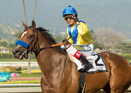 Vale Dori wins the 2017 Santa Margarita Stakes
