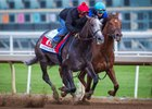 Arrogate works at Santa Anita March 5