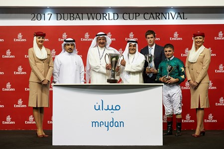 Decorated Knight wins the 2017 Jebel Hatta