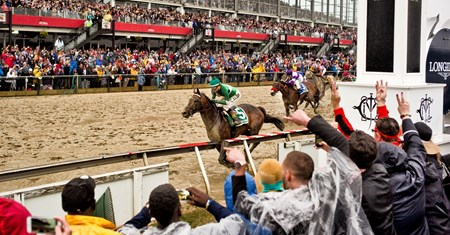 Exaggerator with Kent Desormeaux wins the Preakness Stakes (G1) Preakness week at Pimlico in Baltimore, Md.