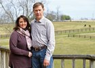 Steven and Brandi Nicholson at their Silver Fern Farm near Versailles, Ky.