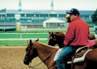 Trainer Mark Hennig in 1995 at Churchill Downs