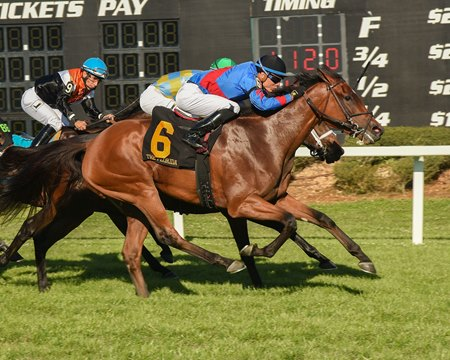 Fifty Five fights for the victory in the Florida Oaks