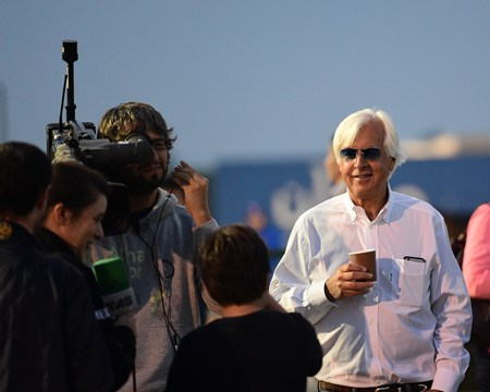 Bob Baffert Dubai World Cup -Morning works 3/24/17