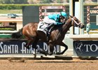 Chalon wins on debut June 23 at Santa Anita by 2 1/4 lengths over Unique Bella