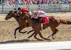 Honorable Duty catches Breaking Lucky to win the New Orleans Handicap