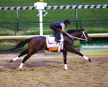 Miss Sky Warrior works April 27 at Churchill Downs
