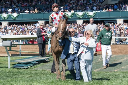 Awesome Slew with Joel Rosario aboard wins The 31st Running of The Commonwealth (G3)   at Keeneland on April 8, 2017 Keeneland in Lexington, Ky.