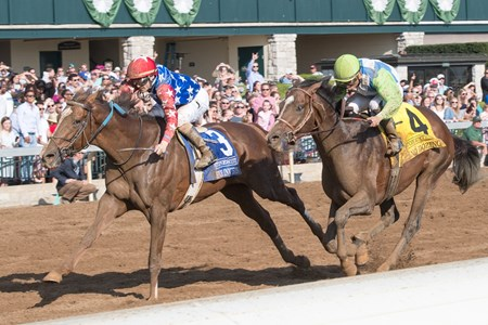 Senior Investment with Channing Hill up wins The 36th Running of The Stonestreet Lexington (G3) at Keeneland on April 15, 2017 Keeneland in Lexington, Ky.