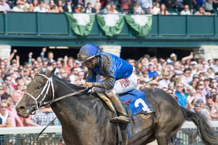Watershed with Paco Lopez aboard wins The 87th Running of The Ben Ali (G3) at Keeneland on April 15, 2017 Keeneland in Lexington, Ky.