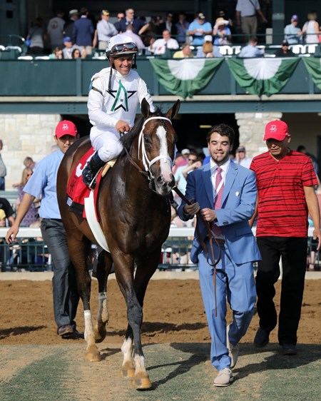 American Patriot wins the 2017 Make's 46 Mile (Grade I) with Javier Castellano up for trainer Todd Fletcher and owner WinStar Farm, 2017 Keeneland Spring Meet