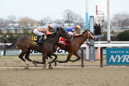 Clipthecouponannie wins the 2016 Franklin Square Stakes