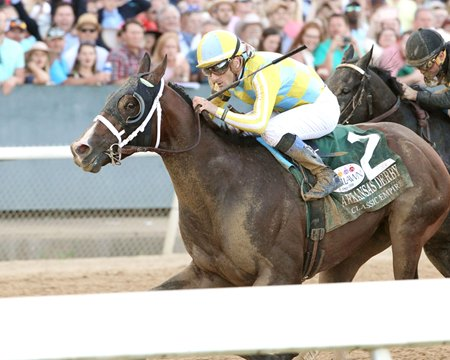 Classic Empire gets the victory in the Arkansas Derby