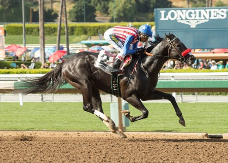 Aristocratic wins the 2017 San Pedro Stakes