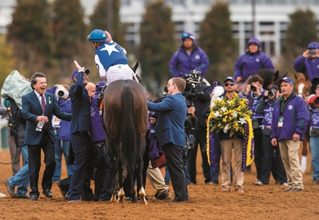 Caption: Tepin with jockey Julien Leparoux wins