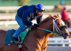 Finest City works at Santa Anita Park in April