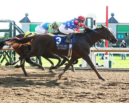 Senior Investment wins the 2017 Lexington Stakes