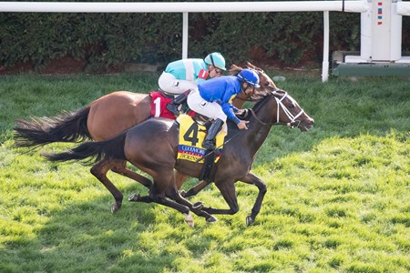 Dickinson with Paco Lopez up wins The 29th Running of The Coolmore Jenny Wiley (G1) at Keeneland on April 15, 2017 Keeneland in Lexington, Ky.
