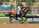 Paradise Woods runs away with the Santa Anita Oaks
