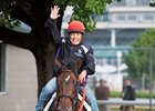Tammy Fox returns from the track aboard Kentucky Derby contender J Boys Echo